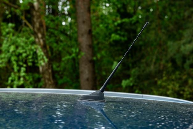 Outdoor car radio antenna. transport concept.
