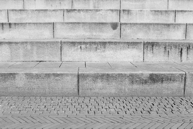 Outdoor granite stairs