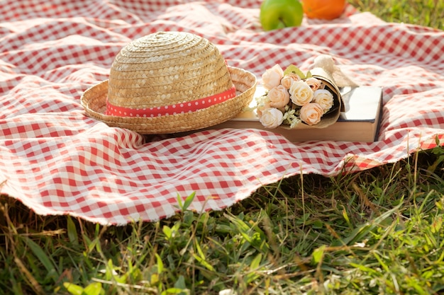 Outdoor picnic at the summer sunny day