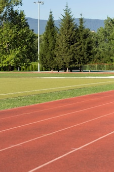 Outdoor runing track