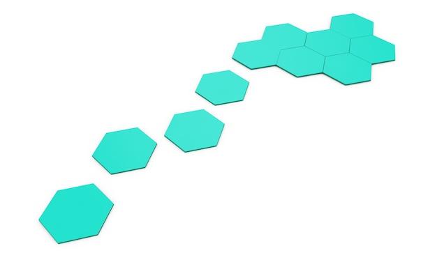 Наружная квадратная плитка серого цвета. 3d иллюстрации.