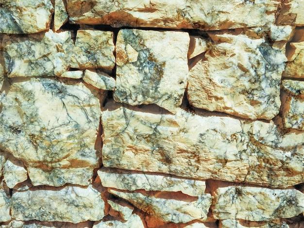 屋外の石の壁のテクスチャ