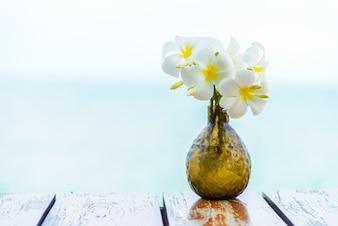 Outdoor vase sea beauty wedding