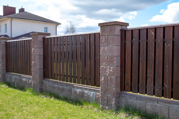 Outdoor wooden fence