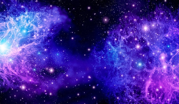 Outer space, universe, purple, starlight, galaxy, bright abstract background