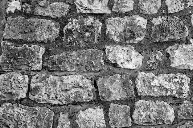 The outer wall of large stones