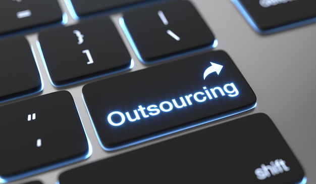 Outsourcing text on keyboard button