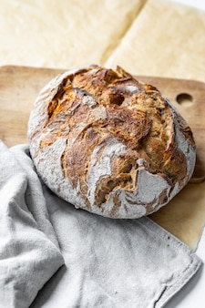 Oven bread on parchment bake homemade bread sourdough bread delicious and natural foods