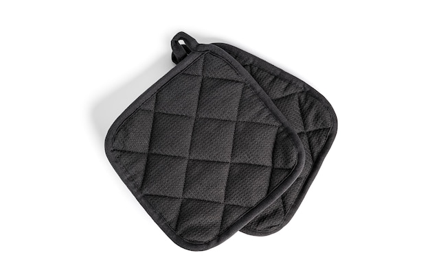 Oven potholder is isolated on a white background. high quality photo