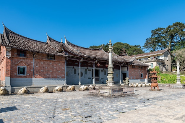The overall appearance of chinese traditional buddhist temples