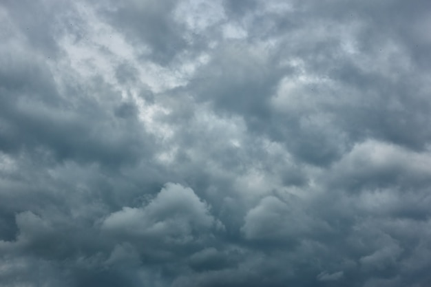 Overcast - gray havy rain clouds, may be used as background