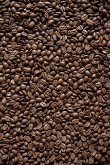 Overhead vertical shot coffee beans great for background or a blog