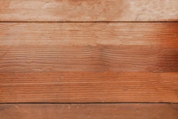 Vista sopraelevata di fondo strutturato di legno marrone