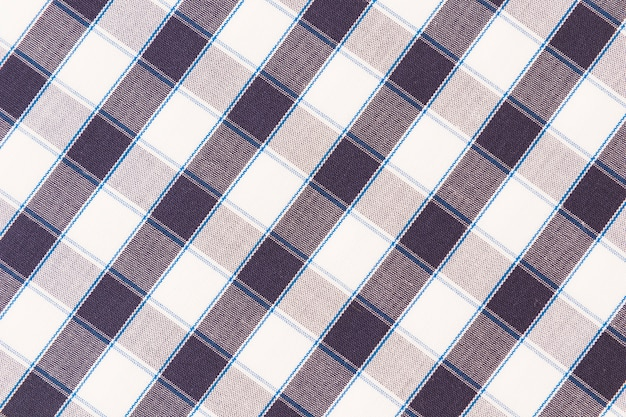 Overhead view of texture checkered backdrop
