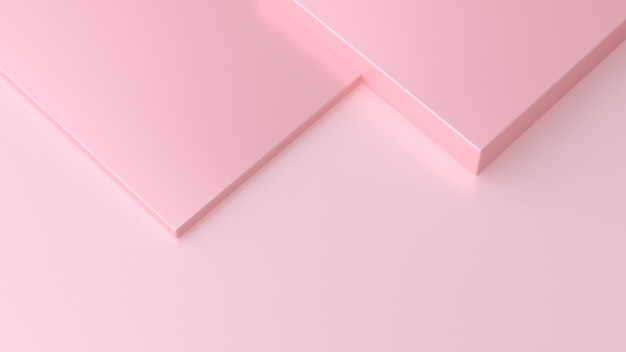 Overlap square pink background