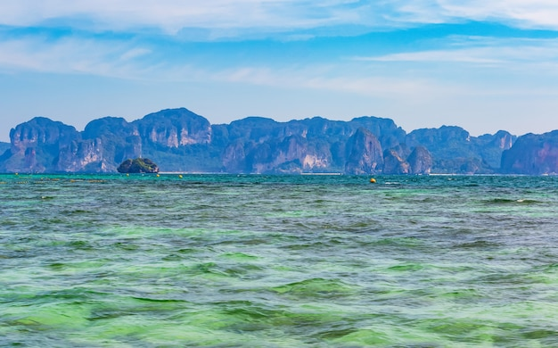 Overview of koh poda and nearby islands