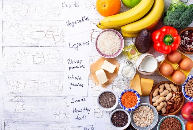 Ovo-lacto вегетарианская концепция здорового питания.