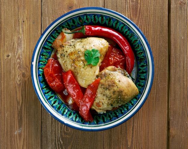 Ovrishta -  chicken with cornelian cherries.widespread across the caucasus and  azerbaijai.