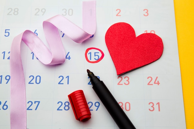 Ovulation date marked on calendar, trying to conceive.
