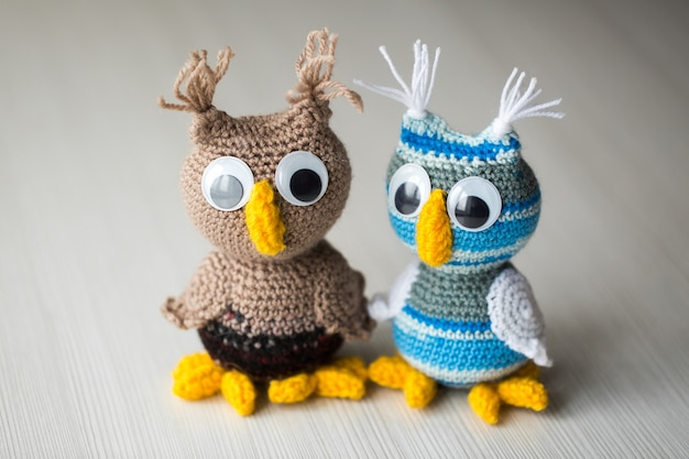 Owl doll knitted