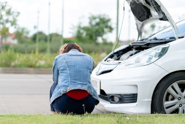Owner car stressed waiting for car insurance because engine broken