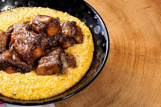 ホミニーのオックステール。ブラジル料理の代表的な料理。