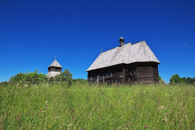 Ozertso village in belarus country