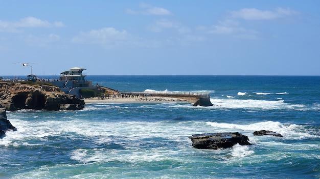 Pacific coast in san diego, usa