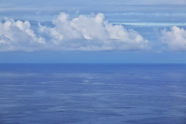 Pacific ocean on easter island chile