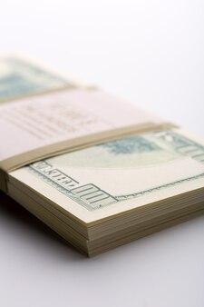 Pack of dollars. closeup view