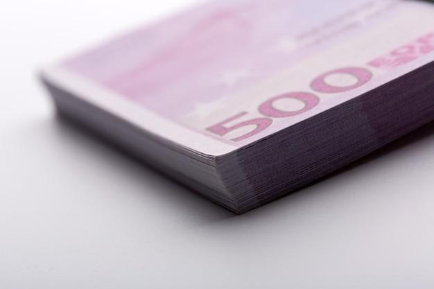 Pack of euros. closeup view