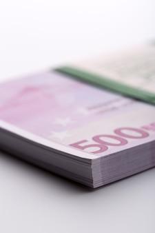 Pack of euros. macro view