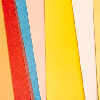 Pack of multicolored cardboard sheets