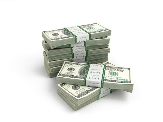 Пакет долларовых купюр