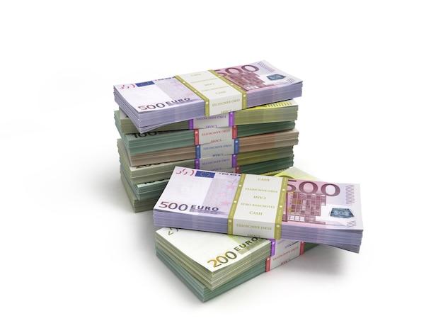 Пакет банкнот евро