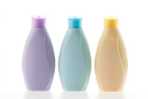 Pack of three shampoo bottles