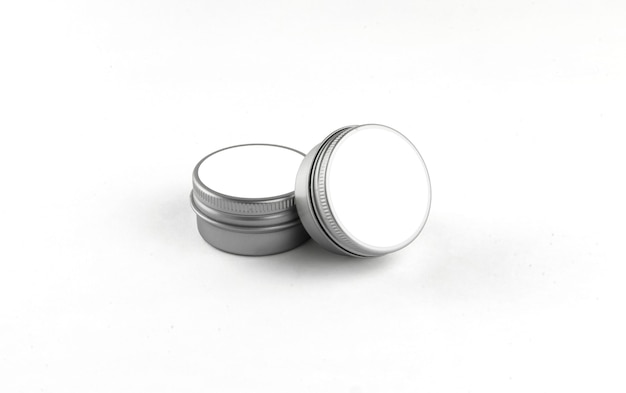 Pack of tins for cosmetic isolated