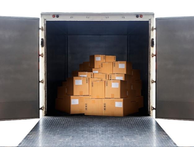 パッケージボックスには、輸送用貨物コンテナが搭載されています。