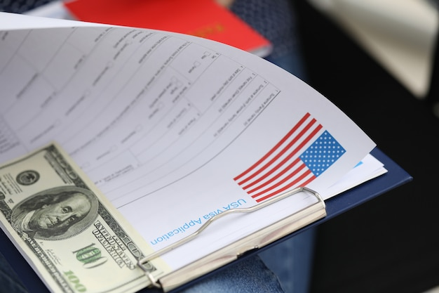 Package documents for obtaining us visa and dollar