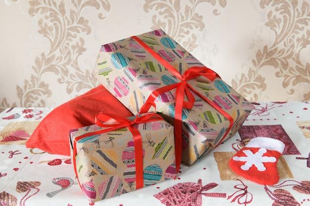 Упаковка подарочные коробки на рождество