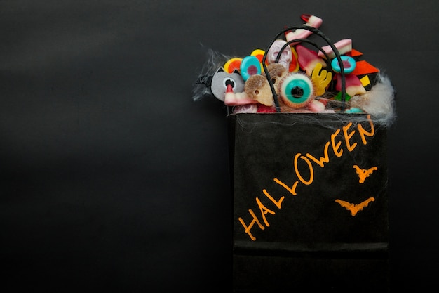 Package with halloween things