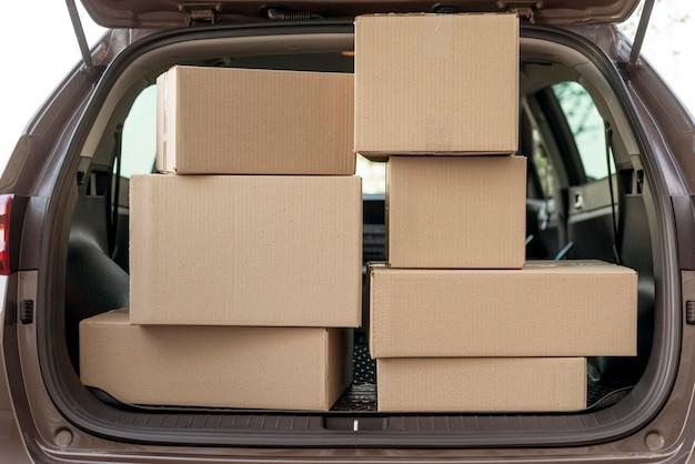 Расположение пакетов в багажнике