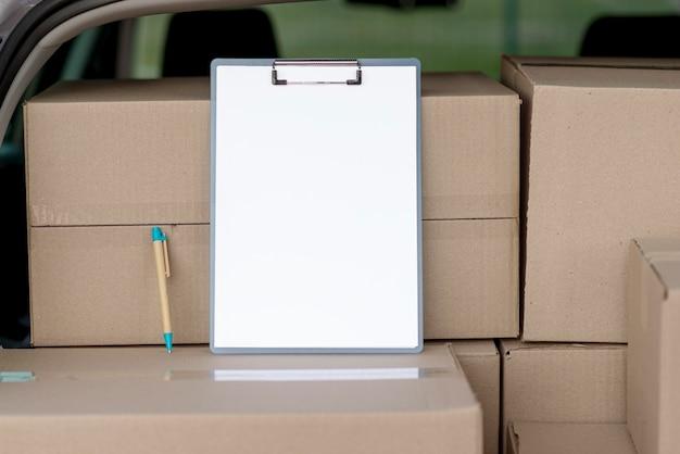 Disposizione dei pacchetti con appunti