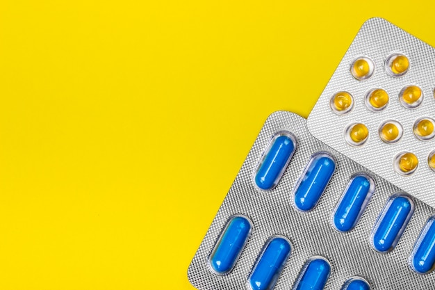 Packs of pills - abstract medical. colored pills.