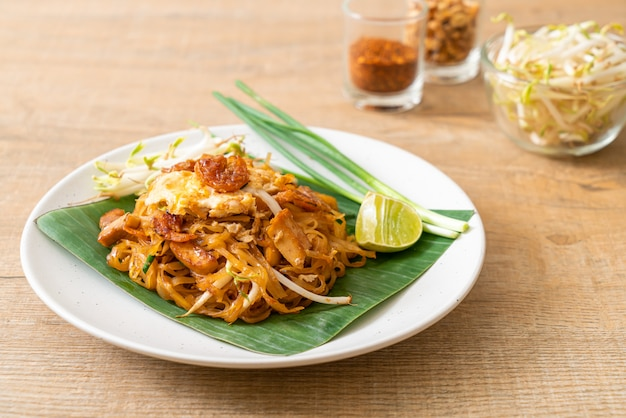 Pad thai stir-fried rice noodles
