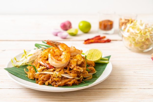 Pad thai - stir-fried rice noodles