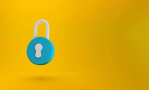 Знак замка. безопасность, безопасность, защита, концепция конфиденциальности.