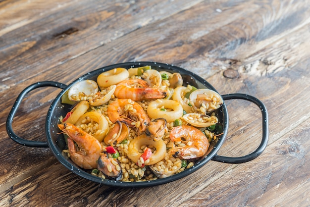 Paella typical spanish food