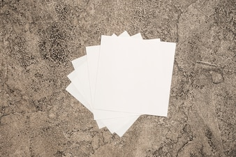 Pages on marble background