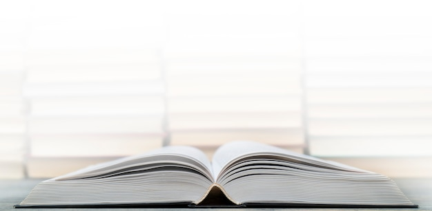 Pages of an open book. symbol of knowledge, science, study, wisdom.